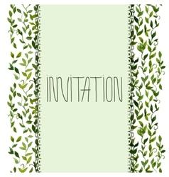 foliar frame design for greeting card vector image vector image