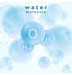 H2o water blue molecule abstract design vector image