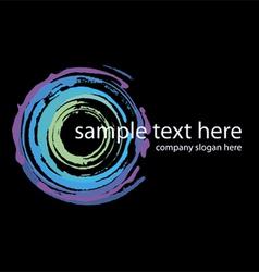 logo neon circles handmade vector image