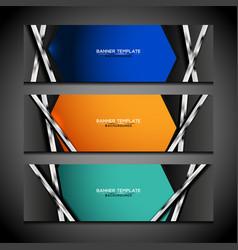 banner background modern design vector image vector image