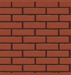 brick wall seamless background vector image vector image