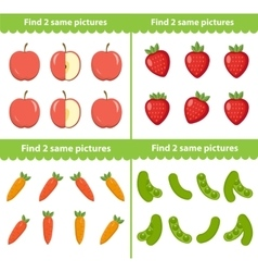 Children s educational game Find two same vector image