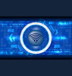 cyber digital technology vector image