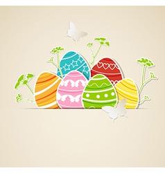 eggs green grass vector image