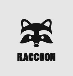 raccoon face logo vector image