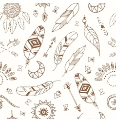 Seamless pattern with Boho Chic Style Elements vector image vector image