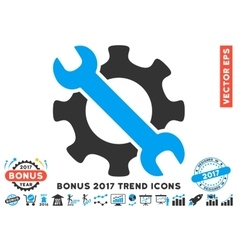 Service Tools Flat Icon With 2017 Bonus Trend vector image