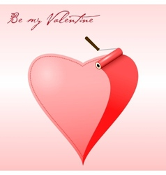 Valentine card painted heart vector image vector image
