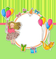 birthday doodles vector image