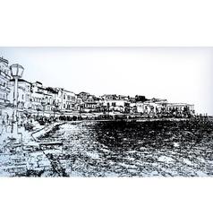 Chania on island of Crete Greece vector image vector image