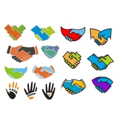 Colorful partnership and friendship symbols vector image vector image