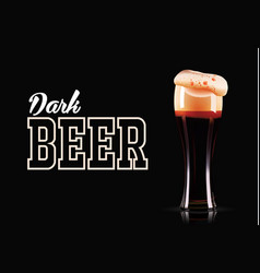 Elegant beer glass template photo-realistic vector