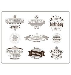 Festive Happy Birthday set vector image