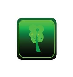 button tree green vector image vector image