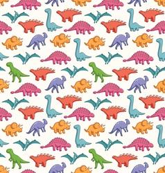 Cute dinosaurs pattern vector image