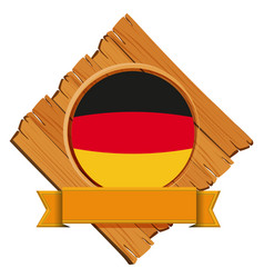 flag of germany on wooden board vector image vector image