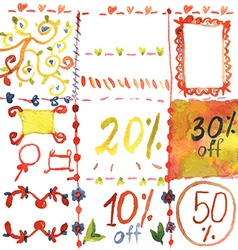 Sale design elements for spring vector image