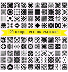 Set of ninety patterns vector