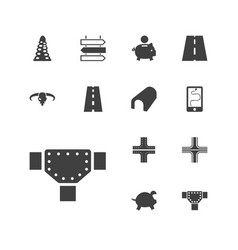 13 path icons vector