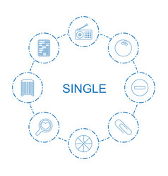 8 single icons vector