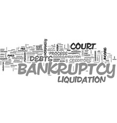 A closer look at bankruptcy text word cloud vector
