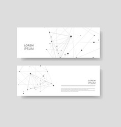 abstract polygonal style business card molecular vector image