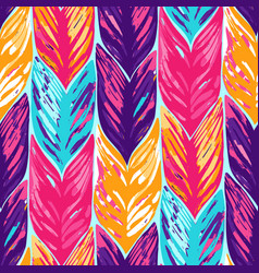 abstract seamless pattern of exotic leaves vector image