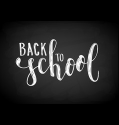 back to school hand drawn brush pen lettering on vector image