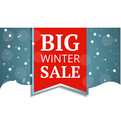 big winter sale concept banner cartoon style vector image