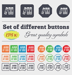 Binders icon sign Big set of colorful diverse vector