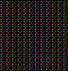 Black background with colorful dots vector
