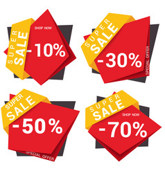 black friday sale design template vector image