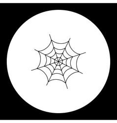 Black simple spider web isolated icon eps10 vector