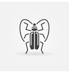 Bug or beetle icon vector