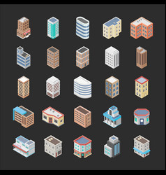 Buildings icon pack vector