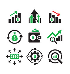 business finance investment - concept web icons vector image