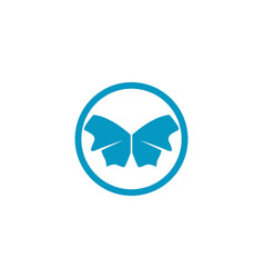 butterfly conceptual simple colorful icon vector image