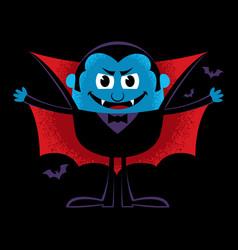 Cartoon vampire on black vector