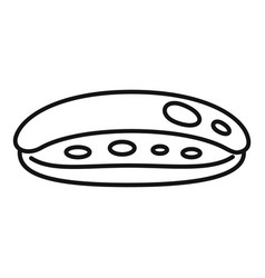 Chocolate eclair icon outline style vector