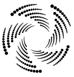 Circle halftone element circular half-tone vector