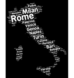 Cities of italy word cloud vector