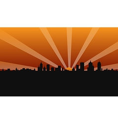 city building sunshine vector image
