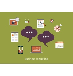 Concept consulting services vector