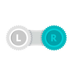 Contact lens case icon flat style vector