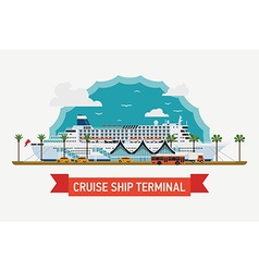 Cruise Ship Terminal vector