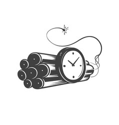 deadline concept logo countdown emblem vector image