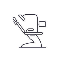 dental office line icon concept dental office vector image