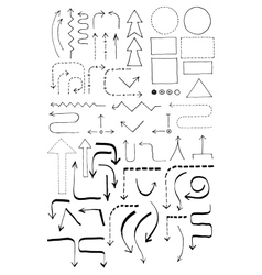 Doodle Flowchart Set vector