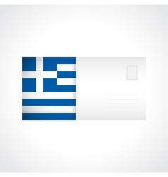Envelope with Greek flag card vector image