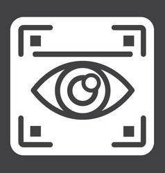 eye scan solid icon security and iris scanner vector image